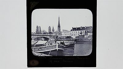 Rouen From The Banks Of The River Seine - Magic Lantern Slide
