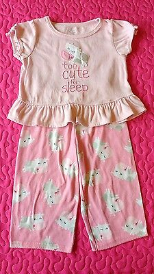 Carters toddler girl 12 -18 months pj set, Cows are 'too cute for sleep'.