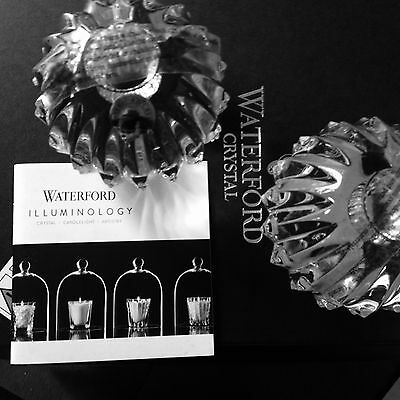 Bnib Waterford Illuminology Crystal Candela Ball Candlesticks Candle Holders