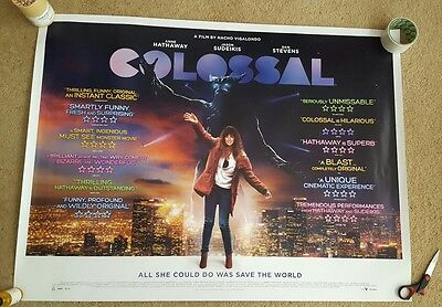Colossal UK cinema quad poster rare limited release anne hathaway