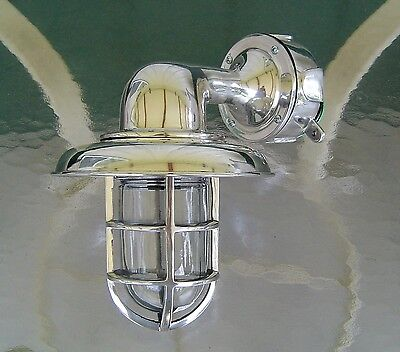 Nautical Aluminum Bulkhead Ship Wall Light With Cover and Junction Box