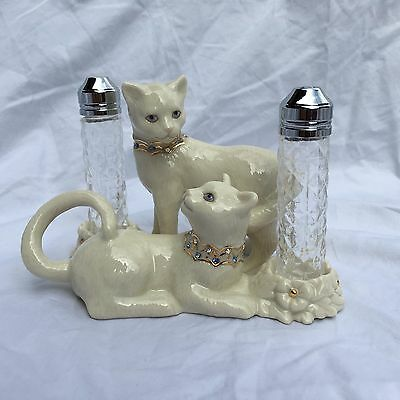 """Perfect for Cat Lovers - Lenox """"Sitting Pretty"""" Salt & Pepper Set, Never Used"""
