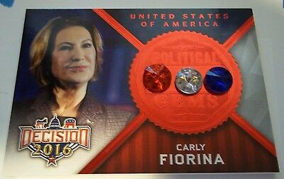 DECISION 2016 CARLY FIORINA Political GEMS G5 Ultra Rare RED FOIL 1/1?