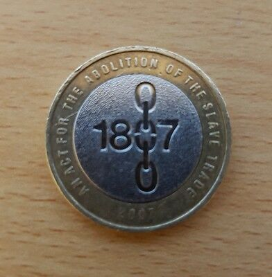 **Minting Error** VERY RARE 1807 Abolition of the Slave Trade 2007 £2 Pound Coin