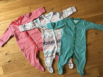 Baby Girls Next Sleepsuits 3-6 Month