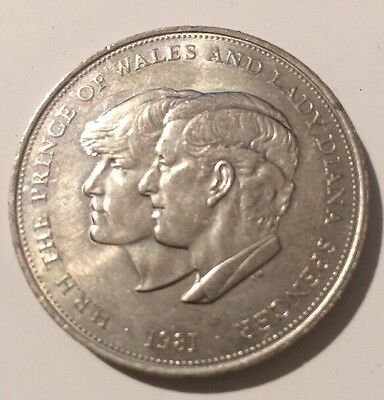 Princess Of Wales Lady Diana Spencer Royal Wedding 1981 U.K. Crown Coin