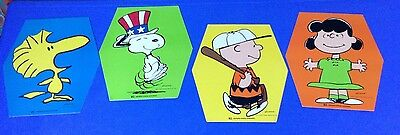 PEANUTS Set Of 4 Charlie Brown Lucy Woodstock Snoopy Dolly Madison Rare VTG