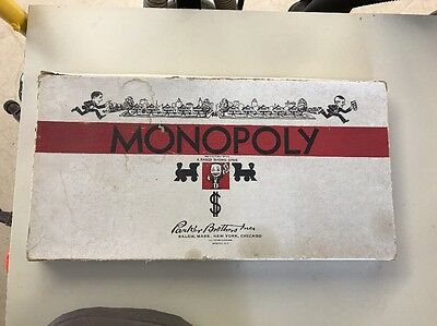 MONOPOLY VINTAGE BOARD GAME BY PARKER BROTHERS 1935-Complete!