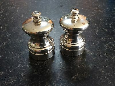 Peter Piper Silver Plated Pepper Grinder And Salt Shaker