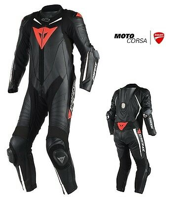Dainese Laguna Seca D1 Perforated 1 Piece Leather Race Suit  - Sz 52 Tall Euro
