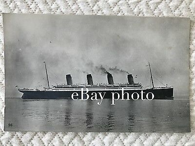 RMS Olympic Real Photo Broadside Postcard / White Star Line / Titanic