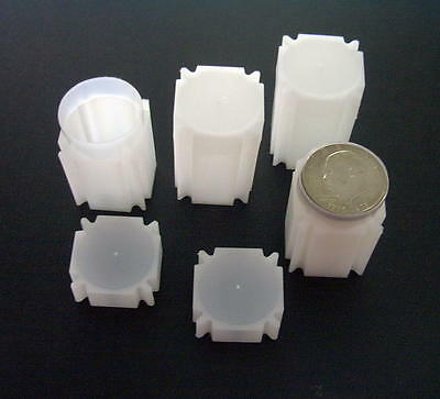 CoinSafe  Square Coin Tubes  for 1oz Silver Round   <>   PVC FREE  US Made