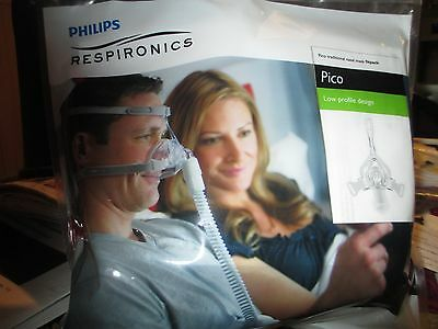 Respironics Pico traditional CPAP Nasal Mask Cushion Fitpack w/Headgear 1104940