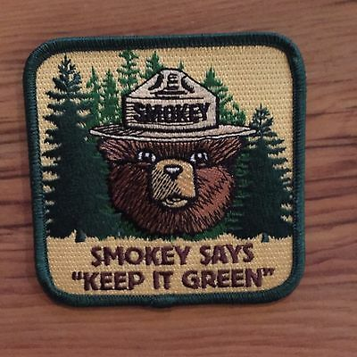 2013 Smokey the Bear Forest Service Fire Wildlife Patch KEEP IT GREEN Patch