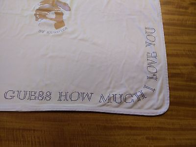 Guess How Much I Love You Kushies Newborn Receiving Blanket 100% Cotton Fabric
