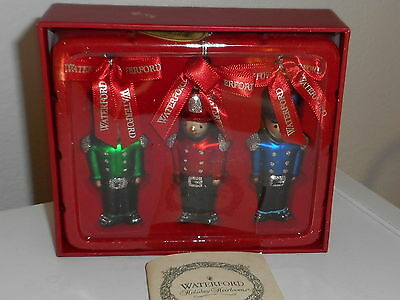 Waterford Holiday Heirlooms 3 Toy Soldiers Christmas Ornaments - NEW IN BOX