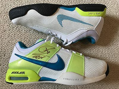 Nike Air Max Courtballistec 1.3 Tennis Shoes Size 10 Signed Rafael Nadal Promo