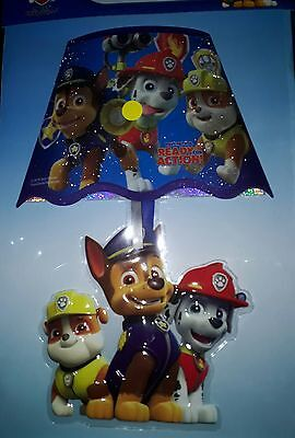Nickelodeon PAW Patrol Chase, Marshall & Rubble Blue LED Wall Lamp Light