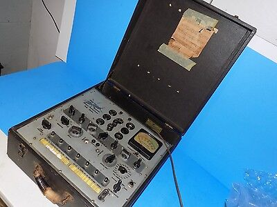 VINTAGE HICKOK 532 MUTUAL CONDUCTANCE TUBE TESTER for parts/ repair