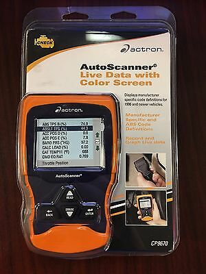 NEW! Actron CP9670 Autoscanner Trilingual OBD II and Can Scan Tool Color Screen