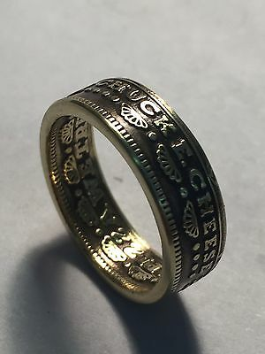 1982 vintage chuck e cheese pizza time theater token Coin Ring (Powder Coated)