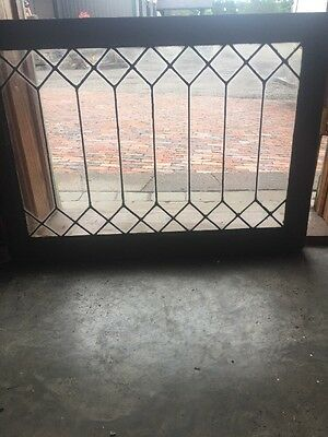 Sg 1490 Antique Leaded Glass Transom Window 20 5H By 34.5 W