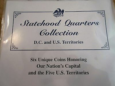 D.C. & U.S. Territories STATEHOOD QUARTERS COLLECTION PCS STAMPS & COINS *  MINT