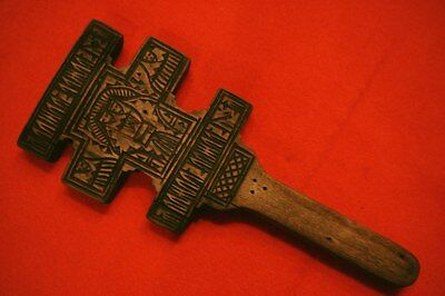 Antique Ukrainian Hutsul Cross 1888 year museum rarity