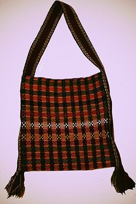 Antique Ukrainian woven bag Taistra Hutsulia, 1940 year, wool