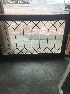 Sg 1492 Antique Geometric Let It Glass Transom Window 23 X 36.25