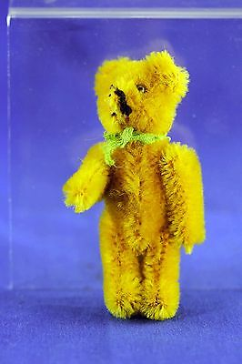 Vintage Schuco Miniature Golden Mohair Teddy Bear Bead Eyes Fully Jointed