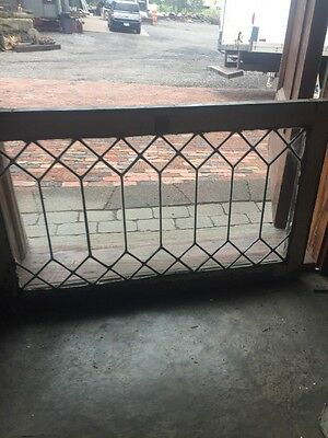 Sg 1494 Antique Leaded Glass Transom Window 21 X 34.5