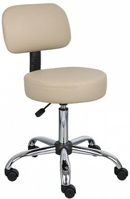Boss Office Products B245-BG Be Well Medical Spa Stool with Back in Beige New