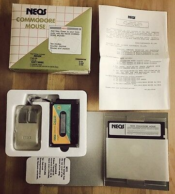 Neos Mouse for Commodore 64 128 C64 C128 C128D SX64 - New - Complet - CIB OVP