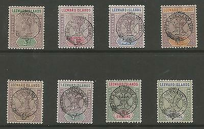 Leeward Is Sg9-16 The 1897 Victorian Diamond Jub.set Of 8 Mounted Mint Cat £700