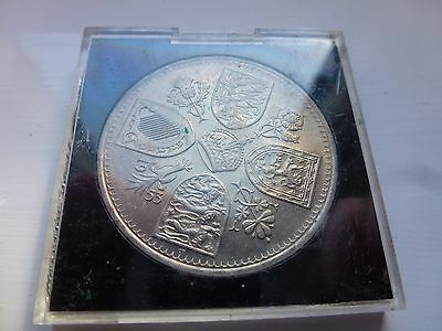 Rare 1953 Elizabeth Ii Coronation 5 Shilling, Crown Coin Uncirculed In Case