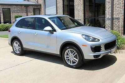 2016 Porsche Cayenne Base Sport Utility 4-Door Rhodium Silver Premium Porsche Entry & Drive 14 Way Power Seats Lane Assist Bose