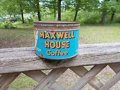 Vintage Maxwell House Coffee Tin Can Onepound Empty