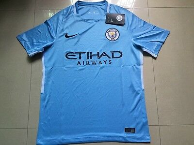 Man City Shirt BNWT Name And Number S M L XL XXL MCFC NEW 17/18 HOME PRINTING