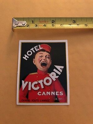 Vintage Style HOTEL VICTORIA CANNES Luggage Label Sticker/decal