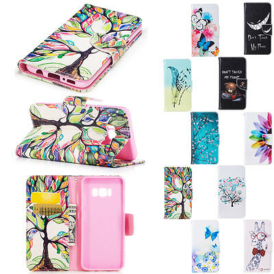 Card Wallet Leather Stand Protective Cover For Samsung Galaxy S7 EDGE Lucky Tree