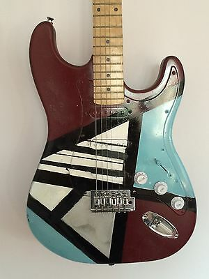 Decorated And Restored Electric Guitar - Abstract Art