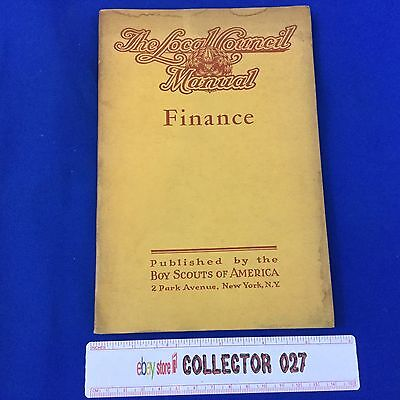 Boy Scout 1940 Local Council Manual Finance