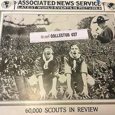Boy Scout 1922 Associated News Service 60,000 Scouts In Review