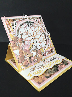 Handmade Birthday Card Easel Mum Sister Auntie Grandmother 3D