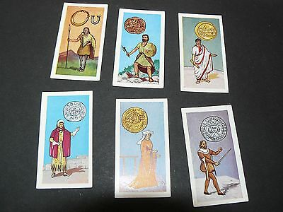 Rare Vintage Lot of 6 British Coins and Costumes Cigarette Cards