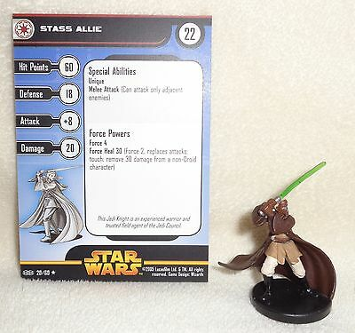 Star Wars Miniatures STASS ALLIE Revenge of the Sith #20/60 ROTS - WOTC - MINT