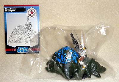 Star Wars Miniatures CLONE TROOPER on GELAGRUB #8/40 Clone Wars w/ Card WOTC NEW