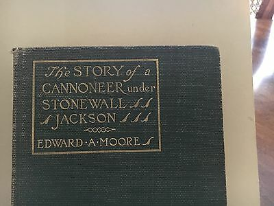 Civil War Book, The Story Of A Cannoneer Under Stonewall Jackson, 1907,first Ed