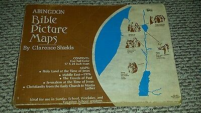 Adingdon Bible Picture Maps (two of each of 4 maps)